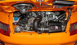 K&N air intake system installed in 2007 Porsche 911 GT3 RS with the 3.6L engine
