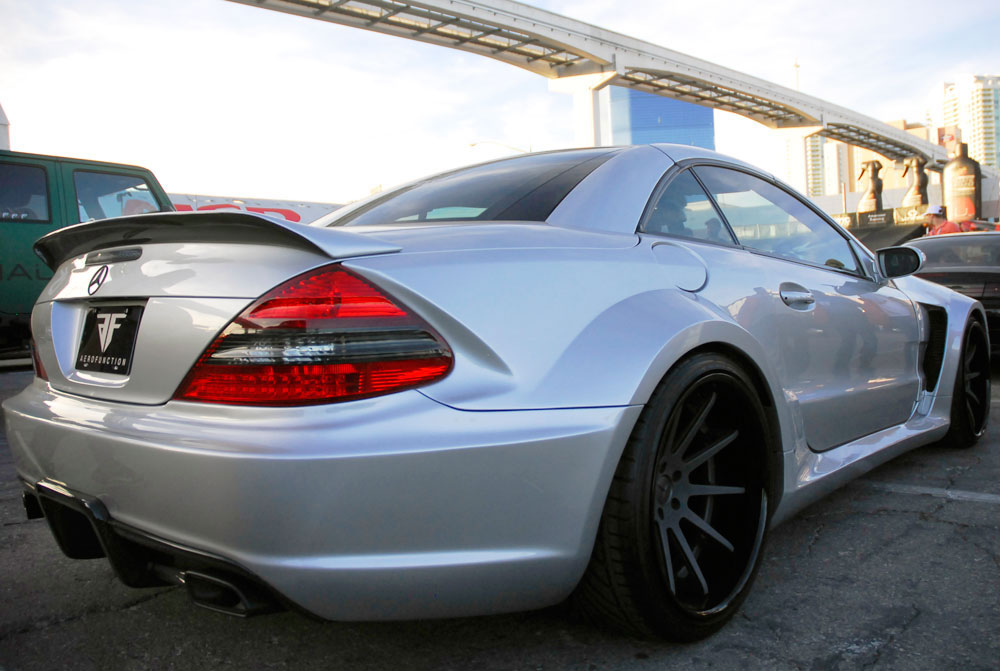 Aero Function Company Features Wide Body Mercedes Benz Sl500 At Sema 2012