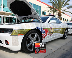 K&N equipped five 2011 Chevy Camaro RS models built as tributes to the lives lost on September 11, 2001