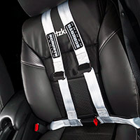 Schroth Racing Rallye Cross ASM 4-point street legal belts were added for the occasional autocross event and snap out in seconds to store in the 2016 Honda HR-V LX