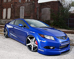 Brian Fox's first official build for American Honda Motor Co. was a 2012 Honda Civic Si turbo tuned to produce over 450 horsepower for the 2011 SEMA Show