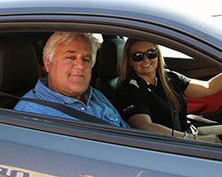 Reigning NHRA K&N Horsepower Challenge champ Erica Enders-Stevens was at Auto Club Dragway in California helping Jay Leno find the fast way to the line in a Super Comp dragster