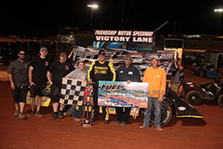 Matt Long dirt track victory at the Friendship Motor Speedway, in Elkin, North Carolina