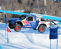 Red Bull Frozen Rush off-road racers at the Sunday River Ski Resort in Newry, Maine