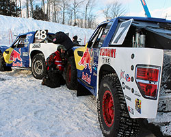 Bryce Menzies and Ricky Johnson (Menzies Motorsports) at Red Bull Frozen Rush