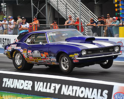 Michelle Furr at the final round of the Thunder Valley Nationals at Bristol Dragway