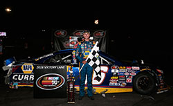 Todd Gilliland lead by a lap to win the NASCAR K&N Pro Series West race at Stateline Speedway in Idaho