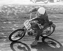 Gary Whitehead began racing on a 50cc Honda C110 motorcycle in 1963 at the famed Perris Raceway and Prado Park
