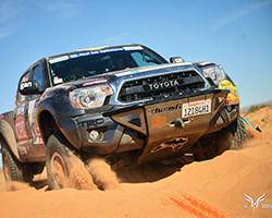 The team made some strategic decisions in the dunes where the K&N equipped Total Chaos Toyota Tacoma worked flawlessly