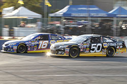 Todd Gilliland and Chris Eggleston at Evergreen Speedway