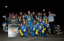 Todd Gilliland and his Bill McAnally Racing team win the NASCAR K&N Pro Series West race at Stateline Speedway in Idaho