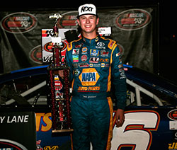Todd Gilliland wins the NASCAR K&N Pro Series West race at Stateline Speedway in Idaho