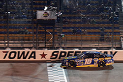 Todd Gilliland wins the NASCAR K&N Pro Series race at Iowa Speedway