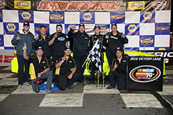 Noah Gragson and his NASCAR K&N Pro Series team won their first East Series race at Stafford Speedway in Connecticut.