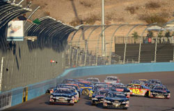 Multi-car accident at Phoenix International Raceway during the Casino Arizona 50