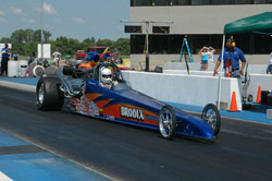 A Brodix dragster ready for action on the strip.