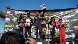 Mitch Guthrie recently took the checkered flag during a Lucas Oil Off-Road Racing Series event at the Las Vegas Speedway.