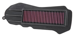 The K&N HA-0513 2013, 2014, 2015 Honda Metropolitan replacement air filter is designed to improve horsepower, acceleration and throttle response