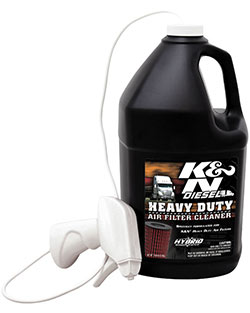 K&N air filter cleaner for diesel big rig semi truck bus