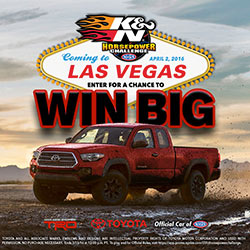Win big in the 2016 K&N Horsepower Challenge Sweepstakes