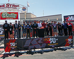 Eight 2015 NHRA K&N Horsepower Challenge sweepstakes finalists were randomly paired with professional NHRA Pro-Stock drivers
