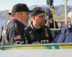 Chris Skram and Frank Savarese watched Vincent Nobile and Erica Enders-Stevens line up for the final time