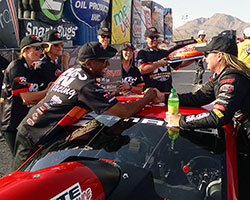The K&N crew was on hand to congratulate Erica Enders-Stevens with a check for $50,000