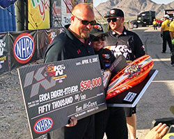 Erica Enders-Stevens hopped out of Elite Motorsports Chevrolet and received praise from all around