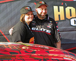 Frank Savarese was overwhelmed by all the excitement of winning a new TRD equipped Toyota Tacoma