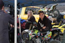 Robert Haslam and his 2007 Yamaha YZ250