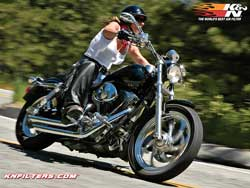 Twin Cam equipped Harley Dyna model.