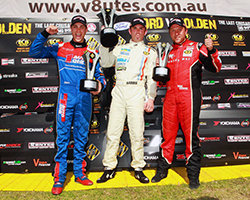 Despite the fact that Ryal Harris has had to carry the 40kg success ballast as a result of leading the championship, he and his team came away with the V8 Ute win