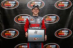 Harrison Burton won pole at Bristol Motor Speedway