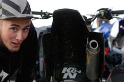 Freestyle Motocross rider Robert Haslam