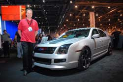 Scott Hoag at SEMA with MRT Fusion T5