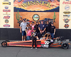 Jacob Hodges first win at the NHRA JDRL Division 7 races in Chandler, Arizona
