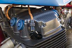 Honda CB 750-836 by AFT Customs carbon fiber housing