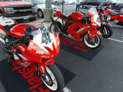 Honda East has quite a rider support program that suites Pros to Average Joes