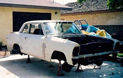 Greg acquired the Chevy II when he was in high school and building it into a drag car was a father-son project that began in 1993.