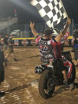 Jared Mees' race team celebrate the victory at the 2016 X Games in Austin, Texas on June 2, 2016.