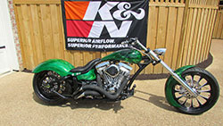 Custom chopper with 127ci motor and K&N filter