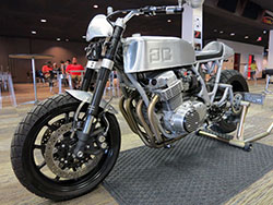 Custom motorcycle built by Gasser Customs in North Hollywood, California