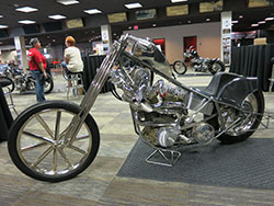 Custom motorcycle on display at Las Vegas Bike Fest
