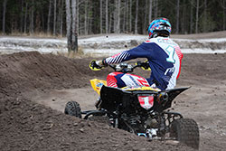 Chad Wienen on the dirt track with his K&N Filters equipped ATV