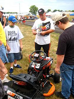 K&N sponsored lawnmower racer Ken Jones.