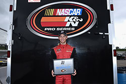 Kyle Benjamin won the pole for the NASCAR K&N Pro Series race at Iowa Speedway