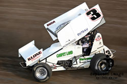Billey Alley driving in a Sprint Car Race