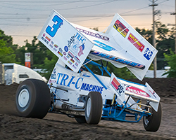 Jonathan Allard got his weekend kicked off on Friday night by timing the Tri-C Manufacturing/K&N/ButlerBuilt No. 3c machine