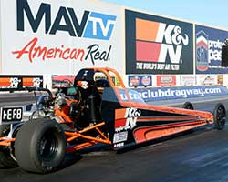 Jacob Hodges was initiated into the world of drag racing at the recent SCEDA event at Auto Club Dragway in Fontana, California