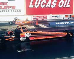 Jacob was pitted against Carlie Ball in the Lil DudeT 7927 Jr. Dragster